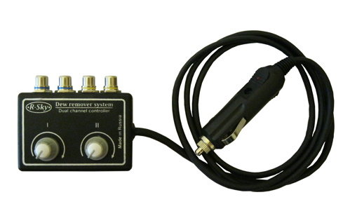 Dual channel controller for dew heaters