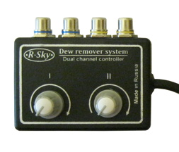 Two channel controller for dew heaters